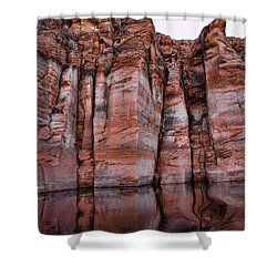 Lake Powell Water Canyon Shower Curtain by Jon Berghoff