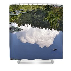 Lake Reflection Shower Curtain by Kay Lovingood