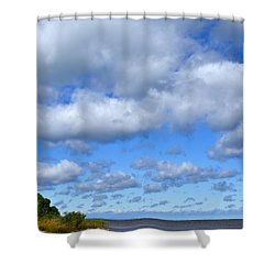 Lake Superior At Whitefish Bay Shower Curtain
