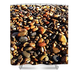 Lake Superior Stones Shower Curtain