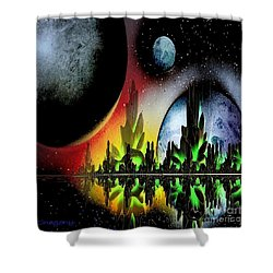 Lake Venus Shower Curtain by Greg Moores