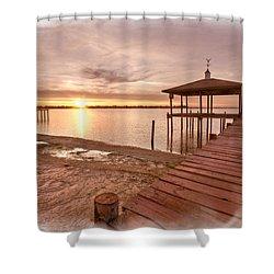 Lakeside Shower Curtain by Debra and Dave Vanderlaan