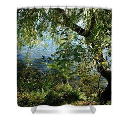 Lakeside Tree Shower Curtain