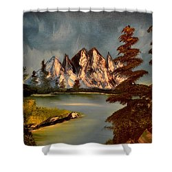 Shower Curtain featuring the painting Lakeview by Maria Urso