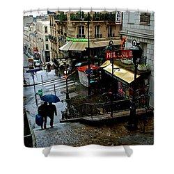 Lamarck-caulaincourt Metro Stop Shower Curtain
