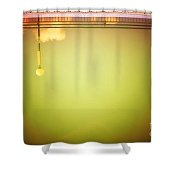 Lamp And Clouds In A Swimming Pool Shower Curtain by Silvia Ganora
