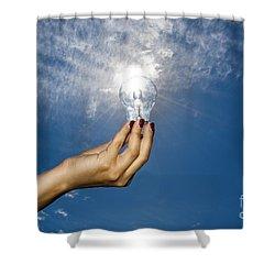 Lamp Bulb Shower Curtain