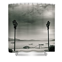 Lamps On Lake Shower Curtain by Silvia Ganora