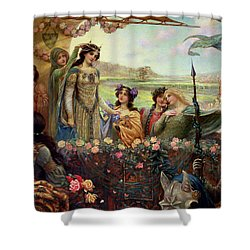 Lancelot And Guinevere Shower Curtain by Herbert James Draper