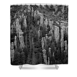 Shower Curtain featuring the photograph Land Of Standing Up Rock  by Vicki Pelham