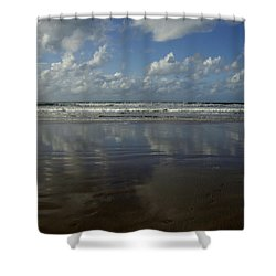 Land Sea Sky Shower Curtain