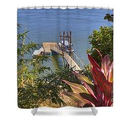 Landing In Boca Chica  Shower Curtain by Heiko Koehrer-Wagner