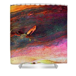 Shower Curtain featuring the digital art Landing by Richard Laeton