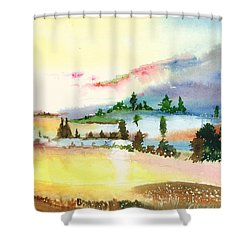 Landscape 1 Shower Curtain by Anil Nene