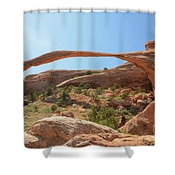 Landscape Arch Shower Curtain by Cassie Marie Photography