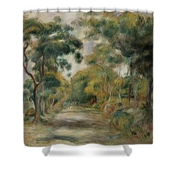 Landscape At Noon Shower Curtain by  Pierre Auguste Renoir
