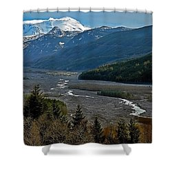 Shower Curtain featuring the photograph Landscape Of Mount St. Helens Volcano Washington State Art Prints by Valerie Garner