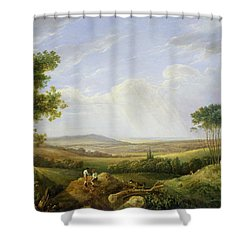 Landscape With Figures  Shower Curtain by Captain Thomas Hastings