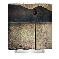 Lantern At The Lake Shower Curtain by Joana Kruse