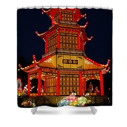 Shower Curtain featuring the photograph Lantern Lights by Vivian Christopher