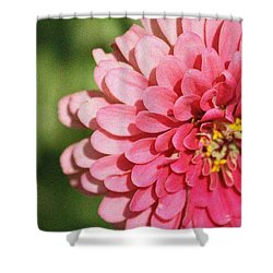 Shower Curtain featuring the photograph Large Pink Zinnia by Donna  Smith