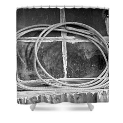 Shower Curtain featuring the photograph Lasso In The Window  by Deniece Platt