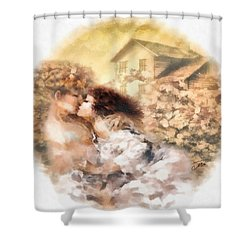 Last Day Of Summer Shower Curtain by Mo T