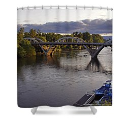 Last Light On Caveman Bridge Shower Curtain