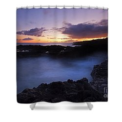 Last Light Over The South Shore Shower Curtain by Mike  Dawson