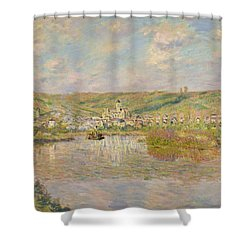 Late Afternoon - Vetheuil Shower Curtain by Claude Monet