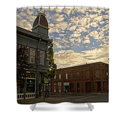 Late Afternoon At The Corner Of 5th And G Shower Curtain