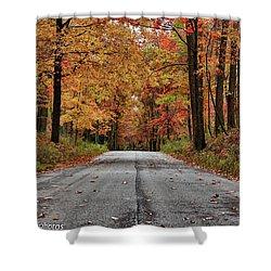 Shower Curtain featuring the photograph Late Autumn Embrace by Rachel Cohen