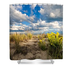Late Summer Dunes Ocean City Shower Curtain
