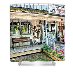 Lauber's General Store Shower Curtain by Tom Schmidt