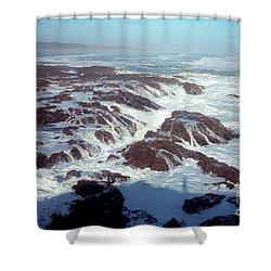Shower Curtain featuring the photograph Lava Rock 90 Mile Beach by Mark Dodd
