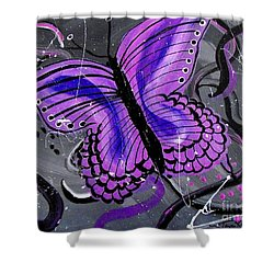 Lavendar Ripple Shower Curtain
