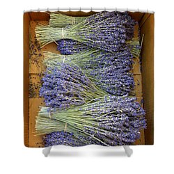 Lavender Bundles Shower Curtain by Lainie Wrightson