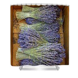 Lavender Bundles Shower Curtain by Lainie Wrightson