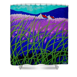 Lavender Hill Shower Curtain by John  Nolan