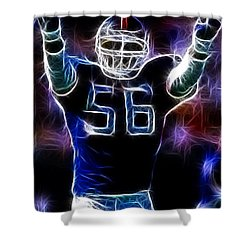 Lawrence Taylor  Shower Curtain by Paul Ward