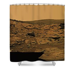 Layered Exposures Of Rock Shower Curtain by Stocktrek Images