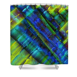 Shower Curtain featuring the photograph Layers Of Blue by David Pantuso
