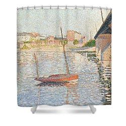 Le Clipper - Asnieres Shower Curtain by Paul Signac