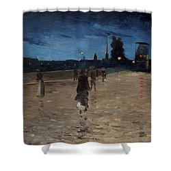 Le Pont De Pierre Shower Curtain by Charles Angrand