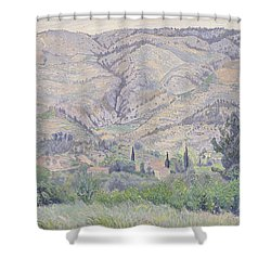 Le Ragas Near Toulon Shower Curtain by Camille Pissarro
