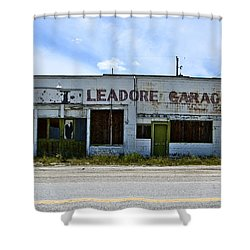 Leadore Garage Shower Curtain