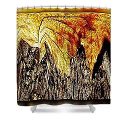 Leaf Meld Shower Curtain by Tim Allen