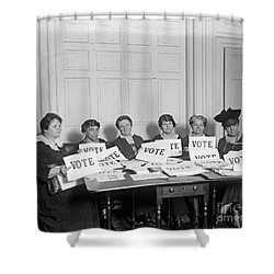 League Of Women Voters Shower Curtain by Granger