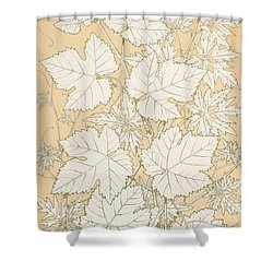 Leaves From Nature Shower Curtain by Christopher Dresser