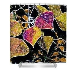 Leaves Shower Curtain by Judi Bagwell